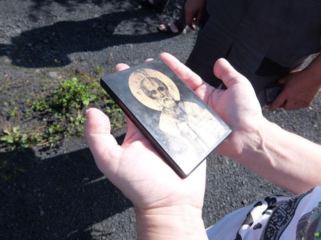Икона из шунгита фото