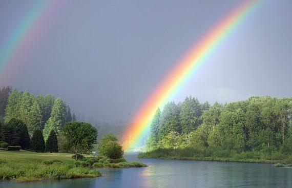 Наблюдение за радугой снимет состояние стресса фото